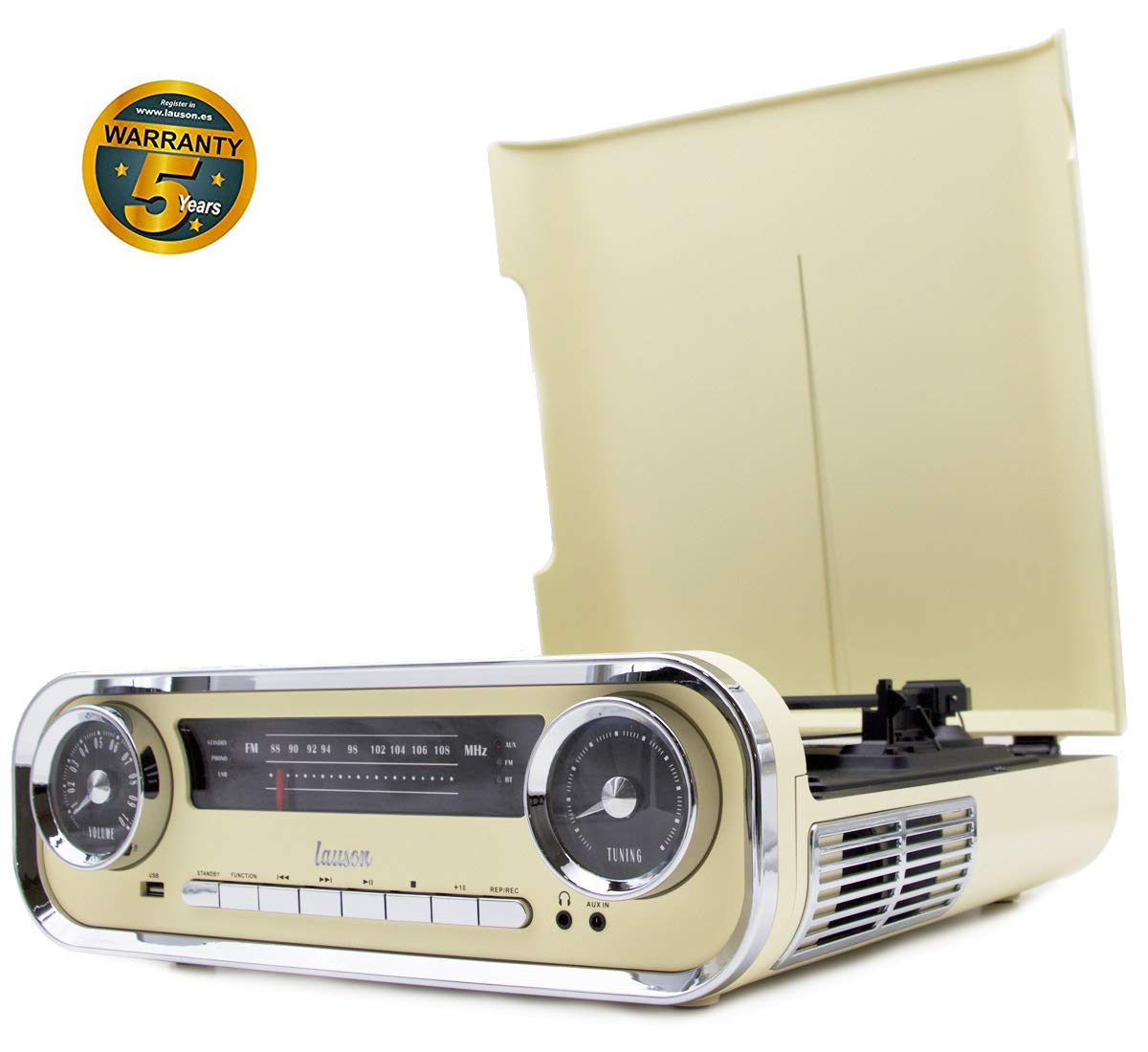 Lauson 01TT15 Tocadiscos Diseño Vintage Coche de Colección con 2 ...