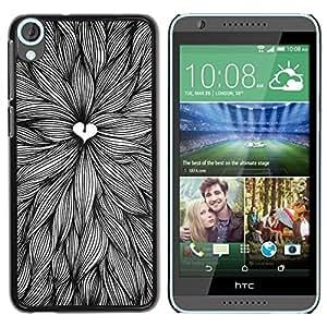 "Pulsar Snap-on Series Teléfono Carcasa Funda Case Caso para HTC Desire 820 , Deja Dibujo Corazón Arte pluma de tinta"""
