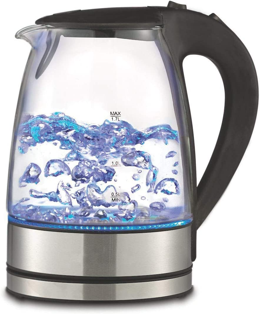 Royal 1.7L Cordless Glass Electric Hot Water Tea Kettle