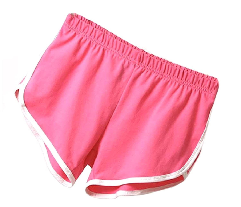 300a867b21ad8 SportsX Womens Plus-Size Beachwear Yoga Home Hot Shorts Elastic-Waist  Fitness Chic Soft