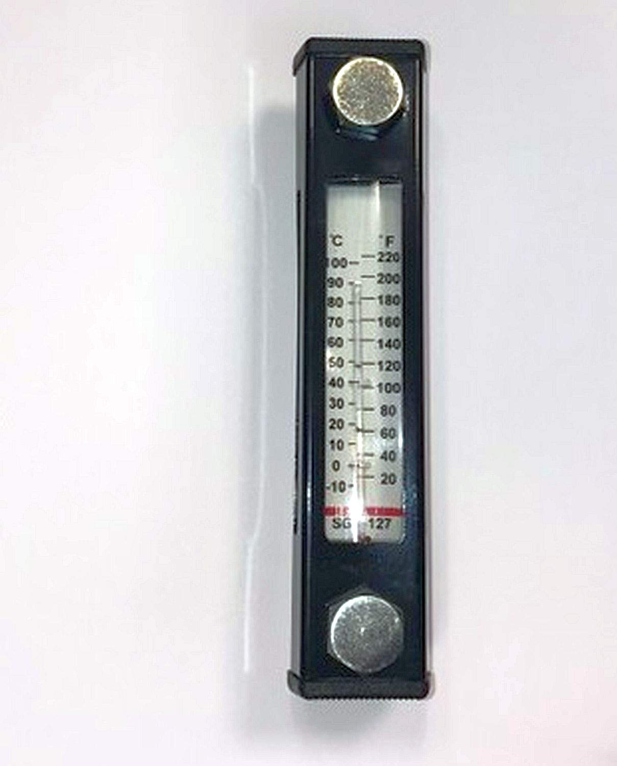 Oil Tank Hydraulic Level Indicator with Thermometer Hydraulic Tank Oil Level Gauge Oil Preserving Glass.