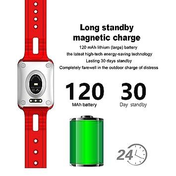 NICERIO IP68 Agua Densidad Fitness Tracker, Bluetooth 4,0 OLED pantalla táctil Smartwatch Pulsómetro Tensiómetro de sangre Oxígeno inteligente reloj para ...