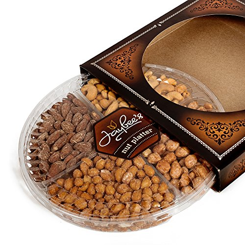 Jaybee's Nuts Gift Tray - Great Holiday, Corporate, Birthday Gift, or as Everyday Healthy Snack - Cashews, Smoked Almonds, Toffee & Honey Roasted Peanuts, Vegetarian Friendly and Kosher by Jaybee's (Image #3)'