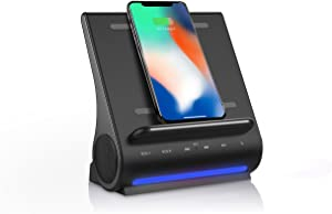 Azpen D100 Wireless Charging Station with Multiple USB Ports + Bluetooth Speaker System