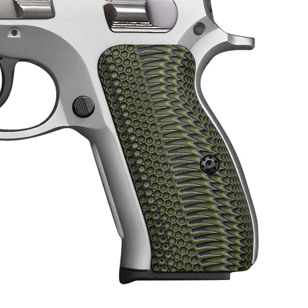 Cool Hand G10 Grips for CZ 75 Compact, Free Screws Included, OPS Texture, Brand (OD/Black) by Cool Hand