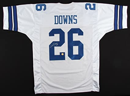 7b7d384cbbc Image Unavailable. Image not available for. Color: Michael Downs #26 Signed  Dallas Cowboys Throwback Jersey ...