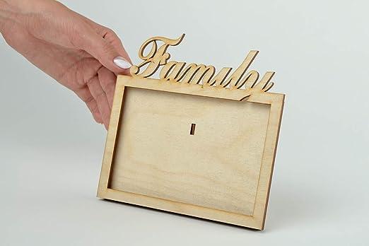 Marco de fotos de madera hecho a mano en blanco para pintar en blanco para decoupage decoración del hogar: Amazon.es: Hogar