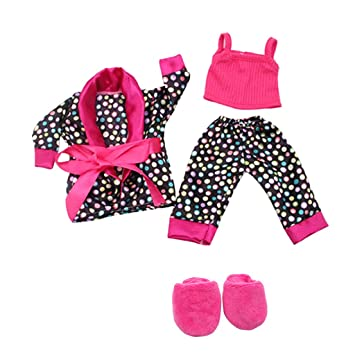 06a967e8f221 MagiDeal Stylish 5pcs Nightgown Suit Clothes Shoes for 18