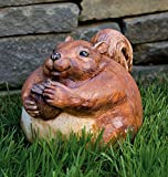 "11"" Nature's Story Portly Squirrel Outdoor Patio Garden Statue"