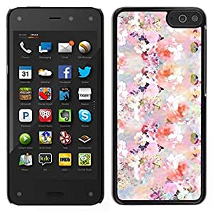 // PHONE CASE GIFT // Duro Estuche protector PC Cáscara Plástico Carcasa Funda Hard Protective Case for Amazon Fire Phone / floral pattern flowers spring white pink /