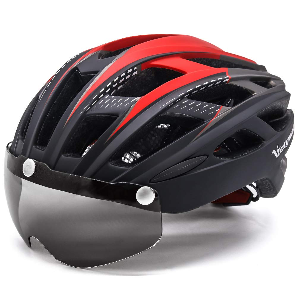 VICTGOAL Bike Helmet for Men Women with Safety Led Back Light Detachable Magnetic Goggles Visor Mountain /& Road Bicycle Helmets Adjustable Adult Cycling Helmets