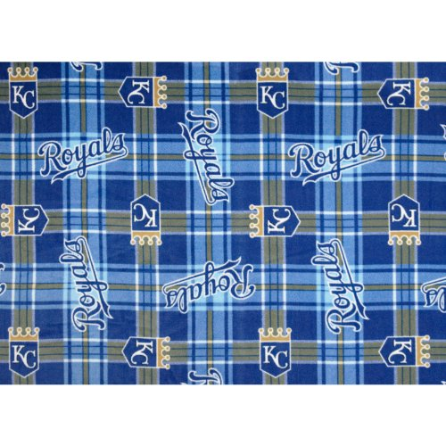 Fabric Traditions MLB Fleece Kansas City Royals Fabric by The - Kansas Royals Fleece City