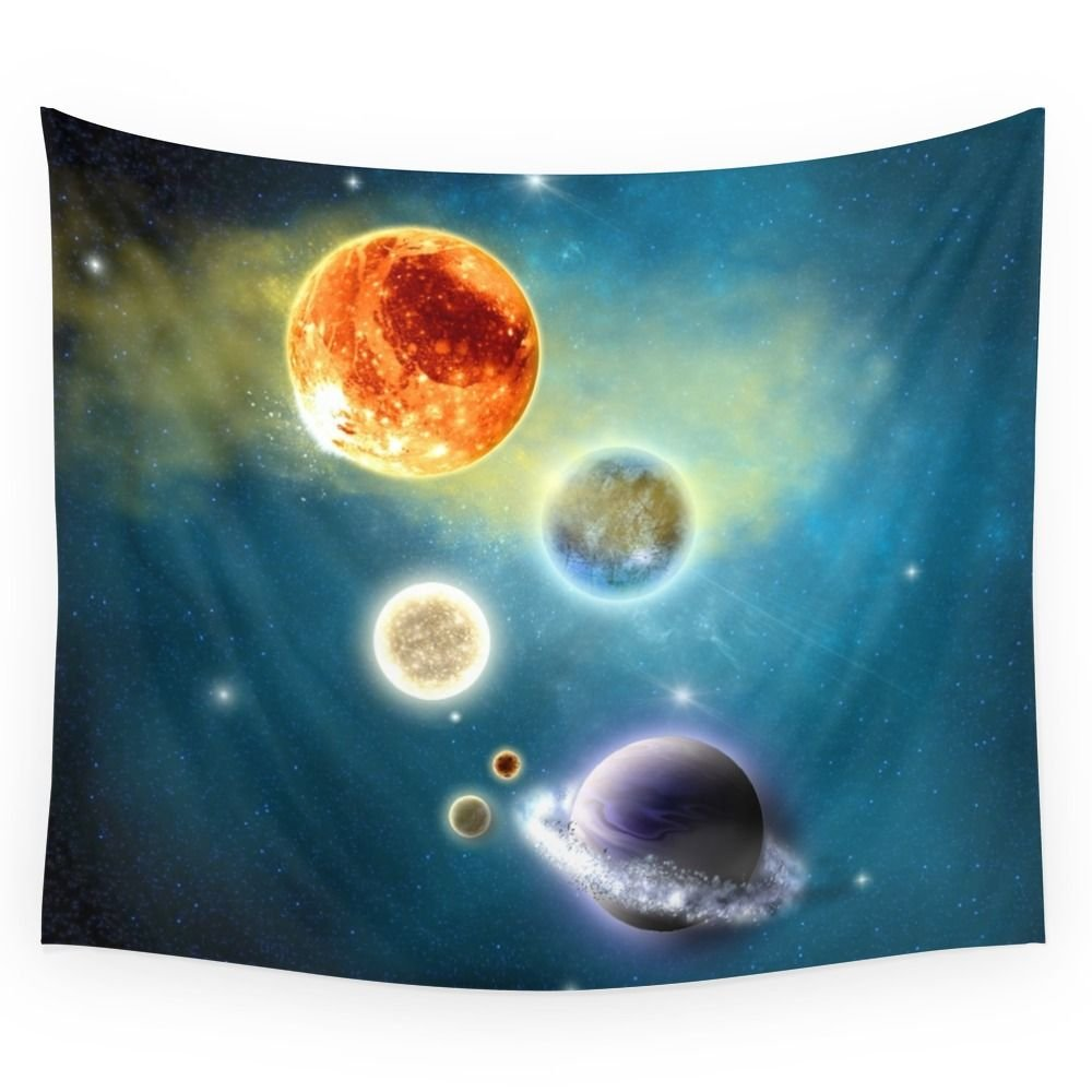 Society6 New Solar System Wall Tapestry Large: 88'' x 104''