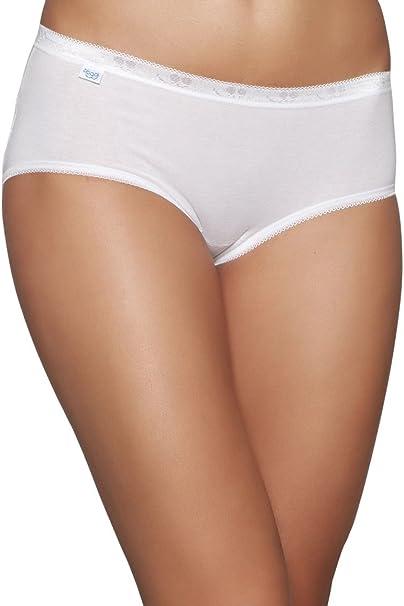 N 8 Slip Donna Sloggi Basic Midi Dalla Tg 3 Alla Tg 7 Colore Bianco 5 Amazon It Abbigliamento