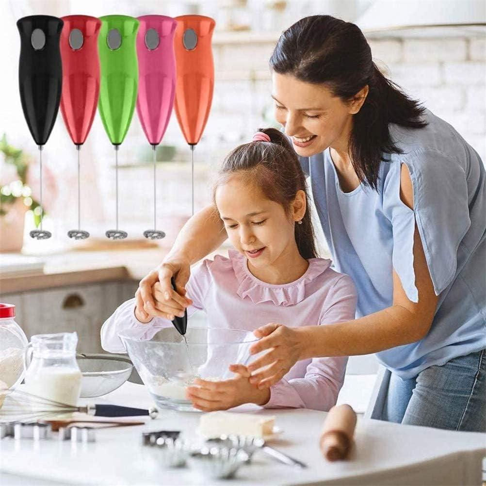 Miscelatore da cucina Agitatore Caff/è Colore casuale Mini elettrico Agitatore da cucina portatile per schiuma di caff/è Torta Latte Schiumatore Uova per la casa Frusta
