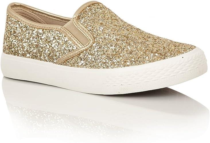 Dolcis Ladies Fasion Glitter Plimsolls