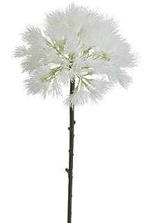 Amazon 48 silk dandelion flower spray cream pack of 8 home lily garden 17 inch dandelion artificial flowers set of 6 white mightylinksfo