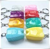 10pcs/set Tooth-Shaped Key Chain Type Flat-Line