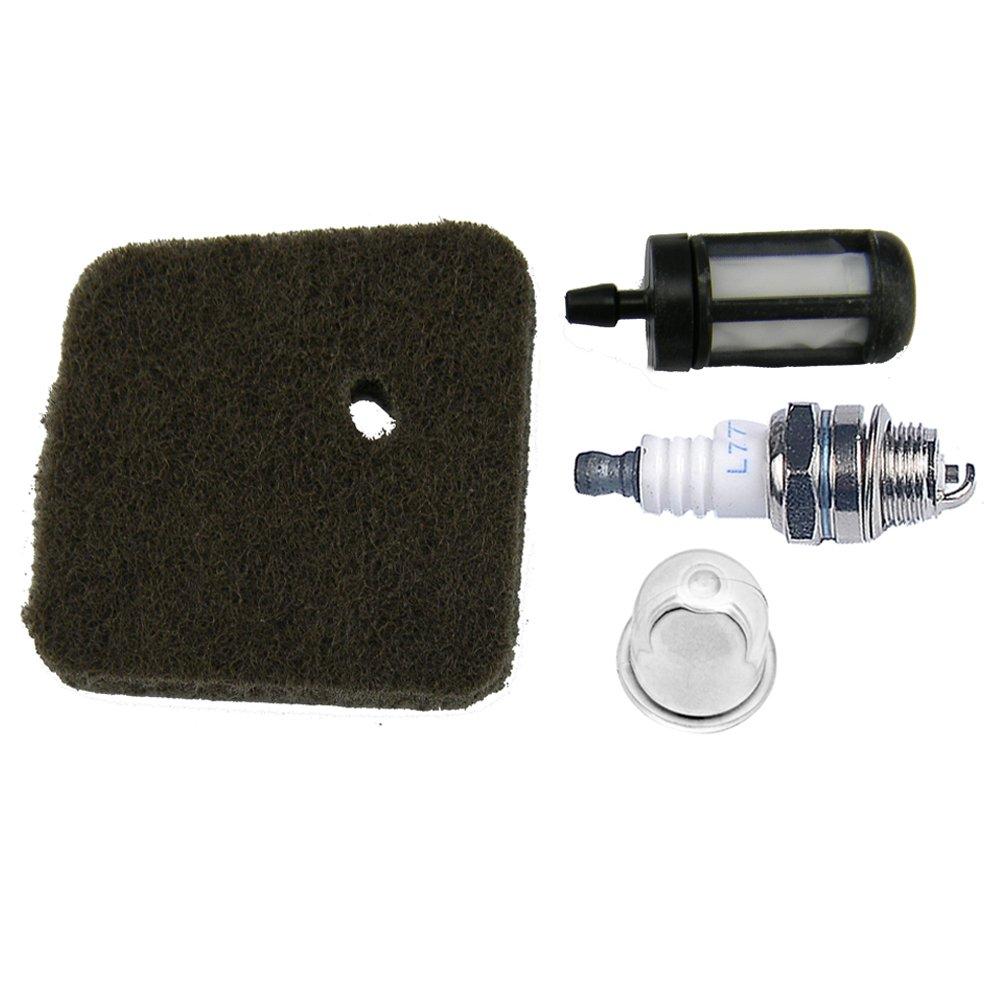 Hipa Spark Plug + Fuel Filter + Air Filter + Primer Bulb For Stihl Fc55 Fs38 .. 2