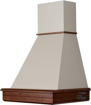 Campana Cocina Rústica madera Mod.Stock 60 de pared, Cono Crema, motor B52 Frassino Scuro: Amazon.es: Hogar