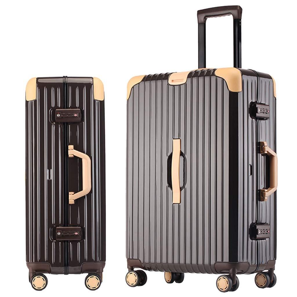 ZXXZ トロリーケース- 人および女性の潮の普遍的な車輪のトロリー箱、学生のレトロなパスワードボックスのスーツケース (Color : Brown, Size : 24in) B07V8SGLYZ Brown 24in