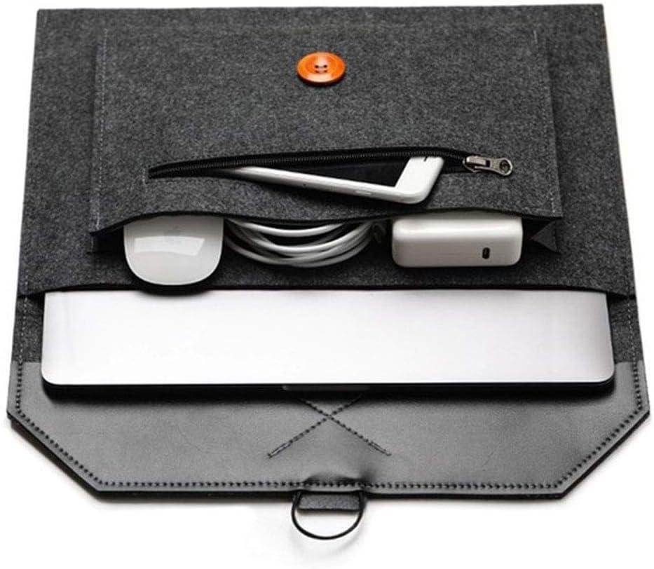 12 inch Felt Laptop Tablet Sleeve Case Bag with Zip Pocket Handbag for iPad Pro 12.9 / MacBook 12 / Surface Pro 2017 / Surface Pro 6/4 / 3 / Most 11