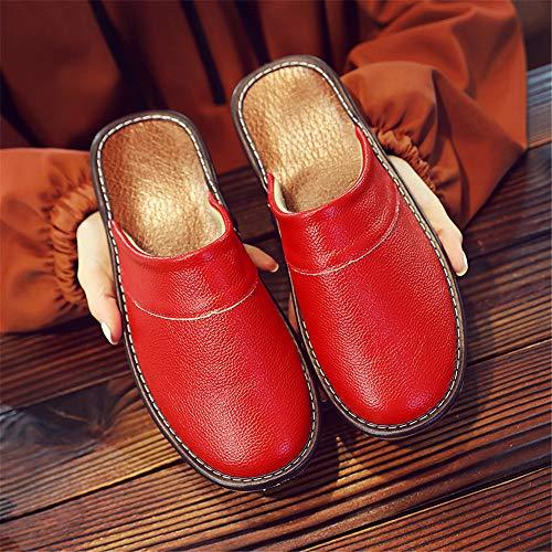 Red outdoor Antiscivolo Primavera Pantofole New Slippe Autunno Donna Memory Invernali Indoor Foam Uomo E Da In Pelle SISaHT4nq