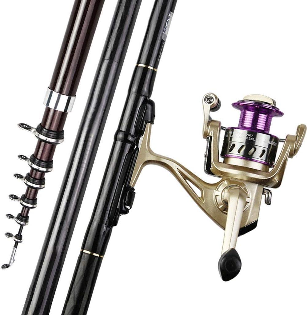 テレスコピック釣り竿とリールコンボ釣り糸釣りギア釣り竿用青年釣り旅行屋外釣りでアクセサリー  6.3M set