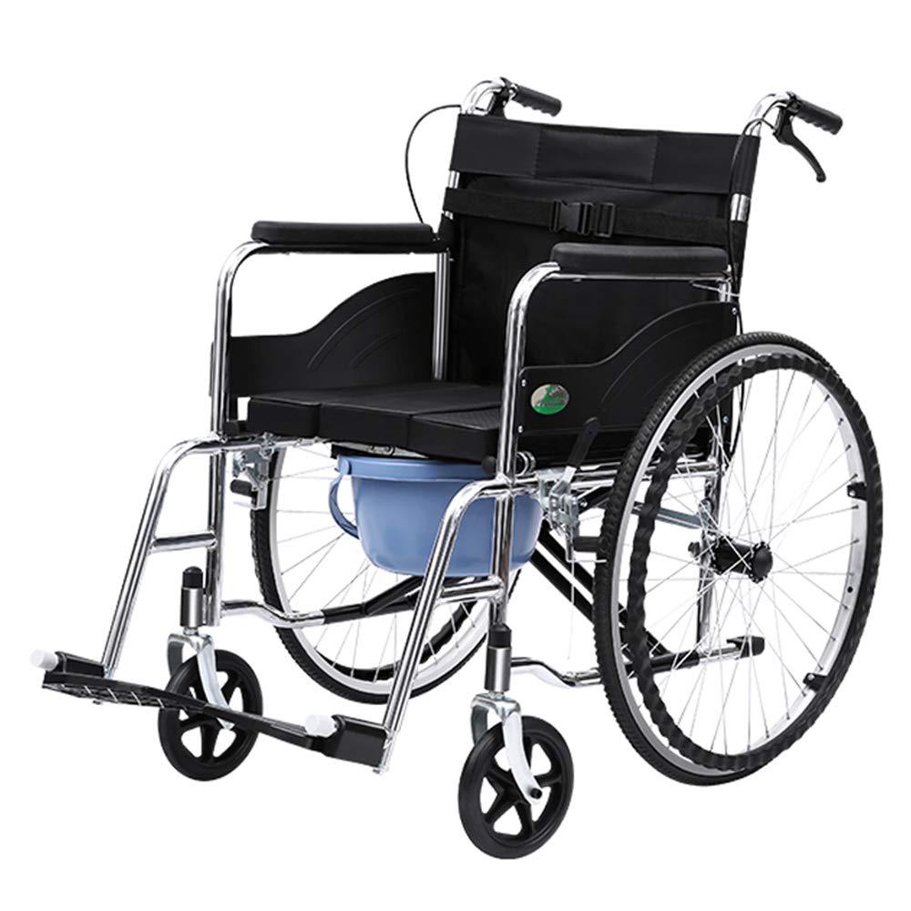 超安い MTao 自走式折りたたみ 車椅子 背折れ ブラック 高炭素鋼製車いす 17kg 自走介助兼用 車イス 軽量 コンパクト ノーパンクタイヤ 駐車ブレーキ付き 介助ブレーキ付き 便器付き 滑り止め コンパクト 携帯便利 通気性 安全ベルト付き ポケット付き ブラック 高齢者 老人 障害者 介護用品 福祉用品 敬老の日 17kg B07MYVRY3R, 遠田郡:bc74c1ba --- a0267596.xsph.ru