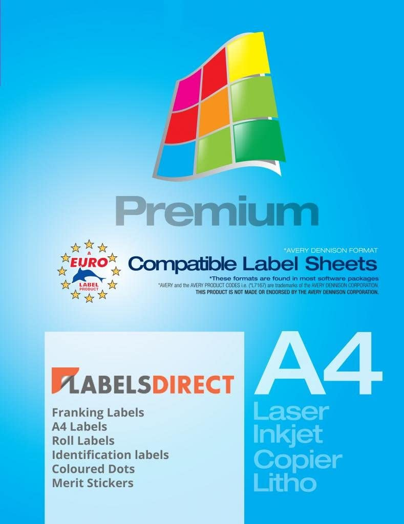 10 Sheets 63.5mm x 38.1mm Address Or Multi Purpose White Peelable Round Cornered Label 21 Label Per Sheet