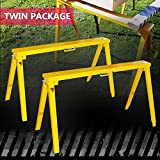 Heavy Duty Folding Adjustable Sawhorse - Twin