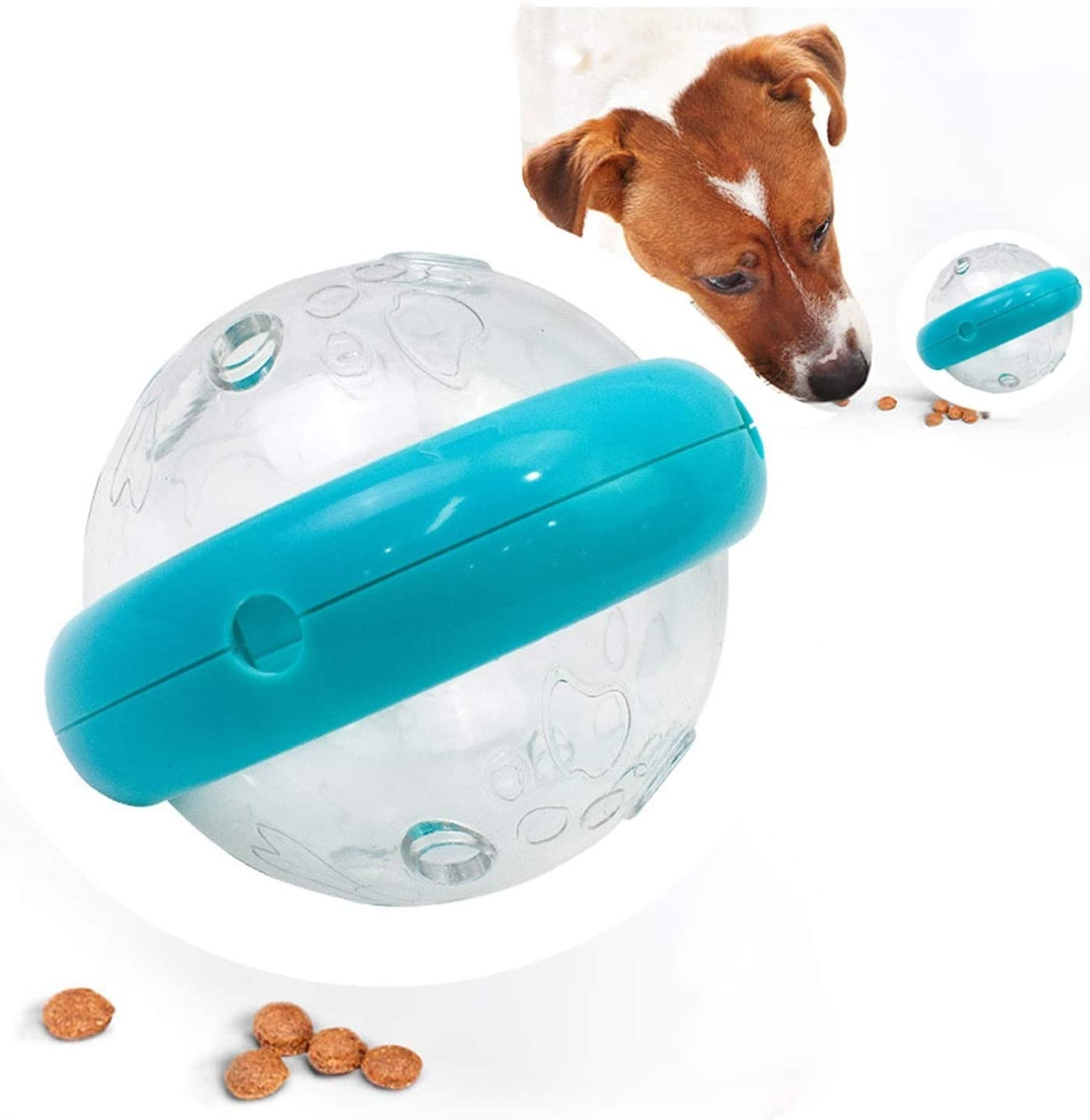 GACYSMD Tumbler Toys Interactive Food Treat Dispenser Ball,Funny Dog/CAT Puzzle Toys for PET Increases IQ Interactive and Reduce Boredom Relieve Anxiety