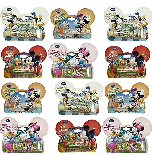- Lot of 12 Assorted Disney© Flavored Lip Balm & Gloss 4 Flavors