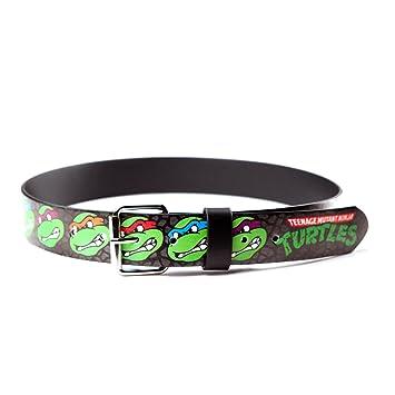 TMNT Ninja Turtles Faces Logo Bedrukte Riem - Maat M: Amazon ...