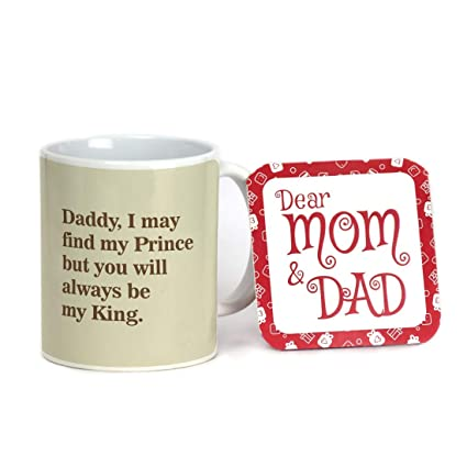 0d93c708258 Image Unavailable. Image not available for. Colour: Indigifts Ceramic Dad  Always My King Quote Father Playing with Daughter Coffee Mug, 330ml(