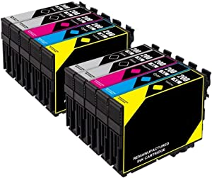 Remanufactured Ink Cartridge Replacement use for XP-100 XP-200 XP-300 XP-400 XP-410 XP-310 Printer (4 Black 2 Cyan 2 Magenta 2 Yellow) 10 Pack