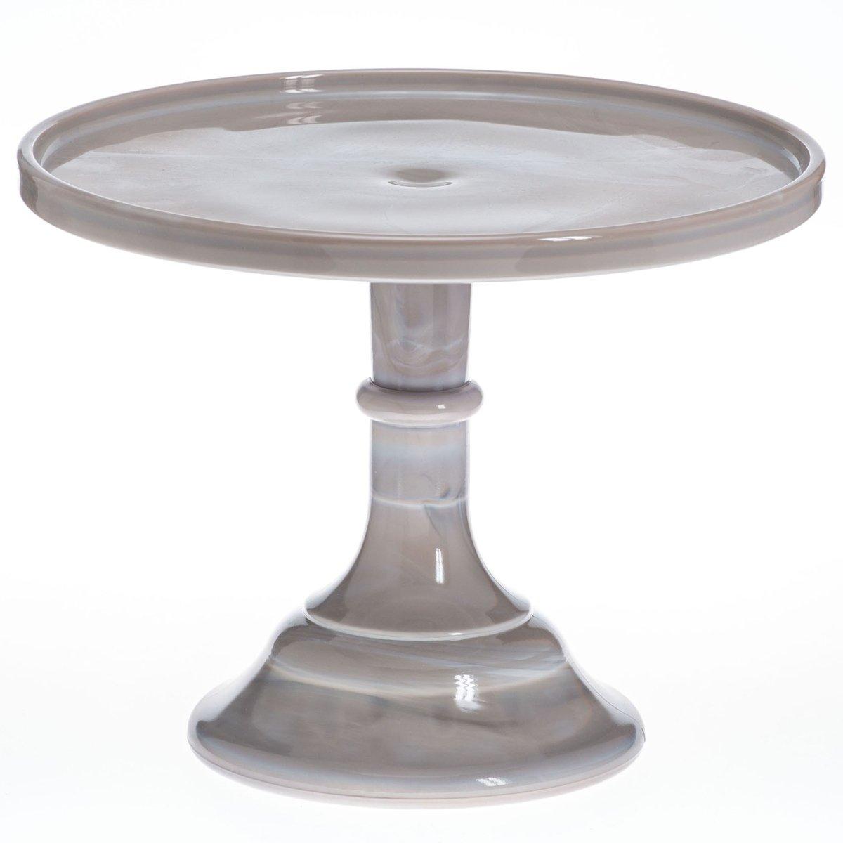 25 4 Cm Marmor Milch Glas Kuchen Stander Amazon De Kuche Haushalt