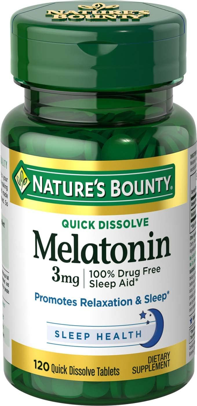 Nature's Bounty Melatonin 3 mg Tablets 120 Tablets