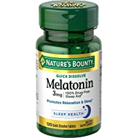 Nature's Bounty Melatonin 3 Mg Tablets 120 Tablets