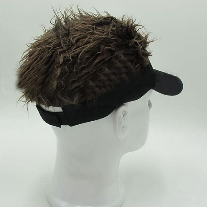 e4122d9156e LerBen Funny Sun Visor Cap Wig Peaked Hat Adjustable baseball cap SUG-05279