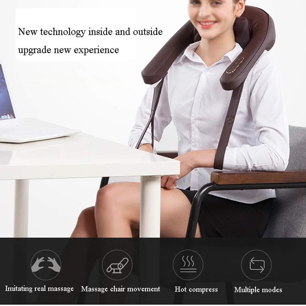 GAOQQ Shiatsu Back Neck and Shoulder Massager - Cervical Spine Kneading Multi-Function Legs/Foots Massager for Office Home Car Use by GAOQQ (Image #2)