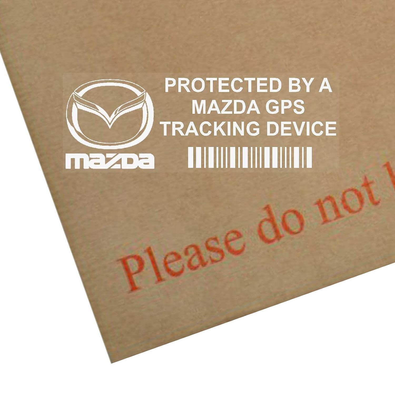 Adesivi PPMAZDAGPS per finestrino d'auto, segnalazione di dispositivo di tracciamento di sicurezza GPS, 87 x 30 mm, set di 5 pezzi Platinum Place