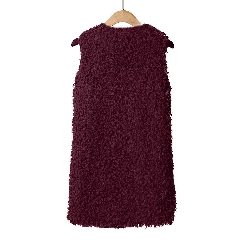 Howley Clearance Top Women Vest Coat Lady Faux Fur Solid Casual Sleeveless Warm Vest Waistcoat
