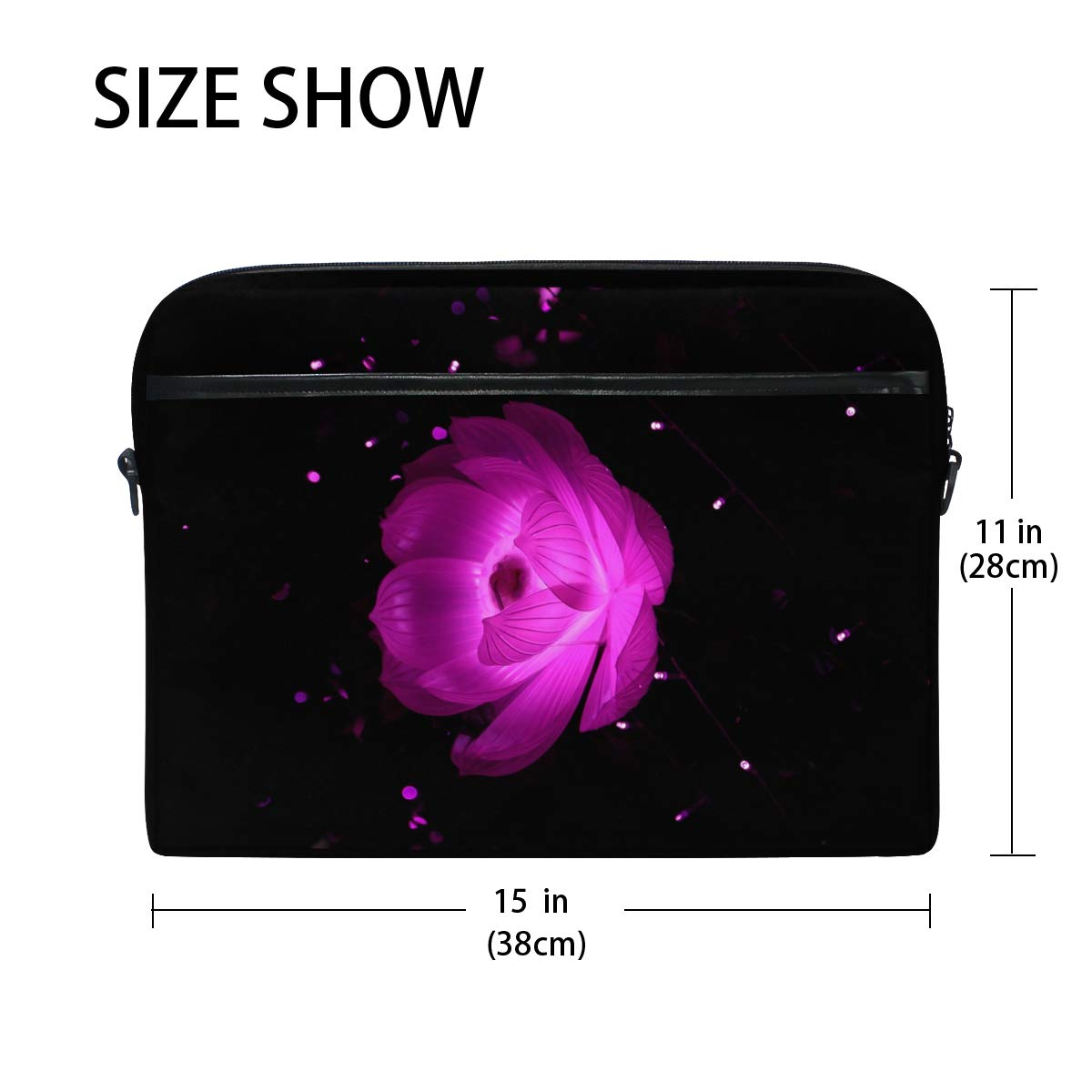 Pink Flower Mens and Womens Computer Bags Briefcases Handbags Suitable for 15 Inch Computers Shoulder Bags