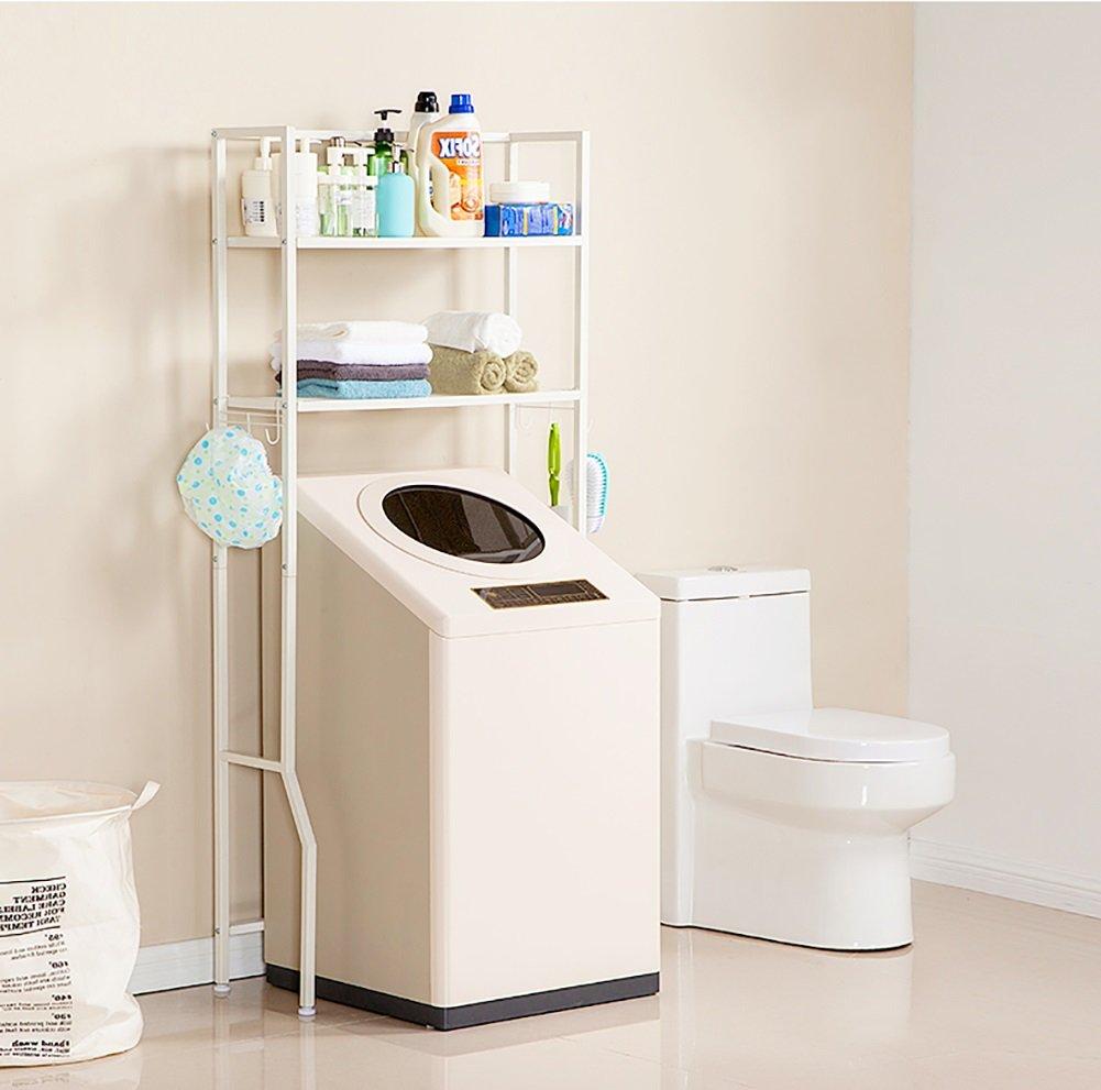 Machine à laver étagère Toilet Rack Rack de rangement divers Trois couches ( Couleur : Blanc )