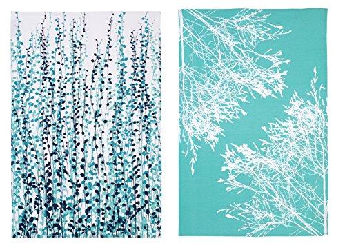 Ulster Weavers Clarissa Hulse Blue Fynbos Cotton Tea Towel, 2 Pack CH 2 by Ulster Weavers