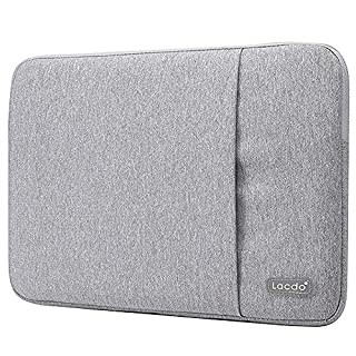 Lacdo 13.3 inch Laptop Sleeve Case for Old 13 inch MacBook Air 2010-2017/13-inch MacBook Pro 2012-2015/13.5 inch Surface Book 3 2 / Asus Zenbook, HP Dell Acer Lenovo Chromebook Computer Bag, Gray