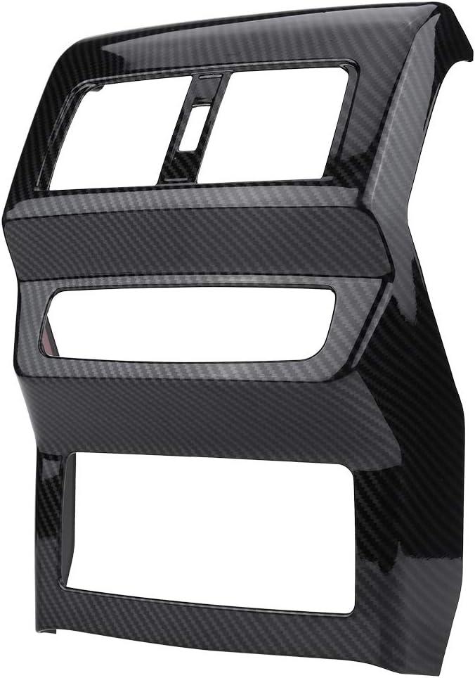 Embellecedor de salida de aire trasero, caja negra del reposabrazos de aire acondicionado Marco de ventilación del marco de ventilación trasero Ajuste de ajuste de ajuste para Q5 FY 2018: Amazon.es: Coche