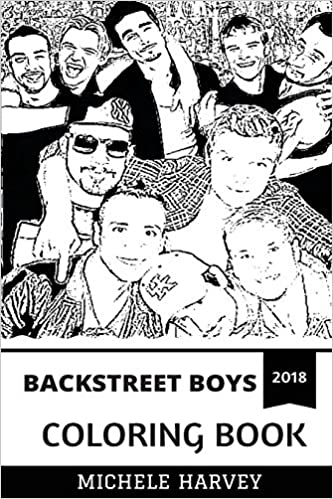 Backstreet Boys Coloring Book: Bestselling Boy Band and Billboard ...