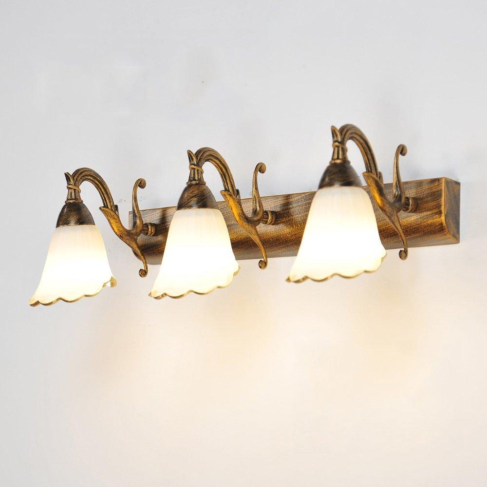 MENA European-style European-style European-style Einfache LED-Schlafzimmer-Dressing-Tisch-Spiegel-vordere Lampen-Wand-Lampe (Größe   Three heads) 3bccc0
